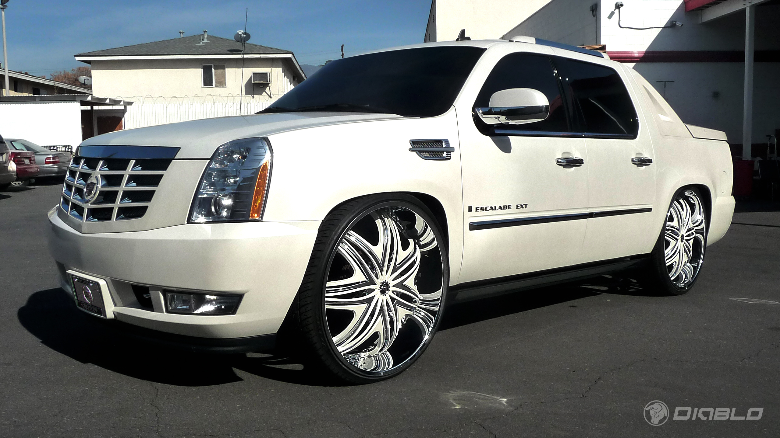2010 Cadillac Escalade Ext On Diablo Wheels Rides Magazine