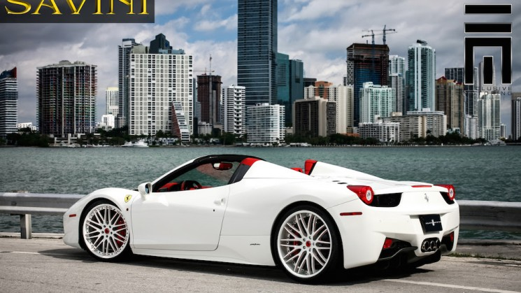 ferrari 458 spider savini wheels exclusive motoring miami florida rides magazine raymond niece