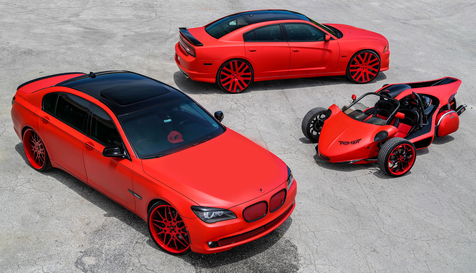 Matte Red Trio Wrapped By Tate Design Rides Magazine