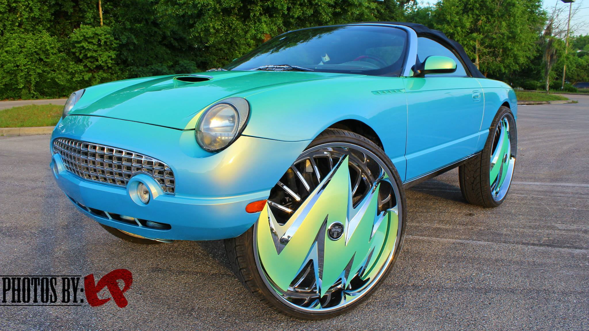 Ford Thunderbird On 32 Inch Dub Spinners Rides Magazine