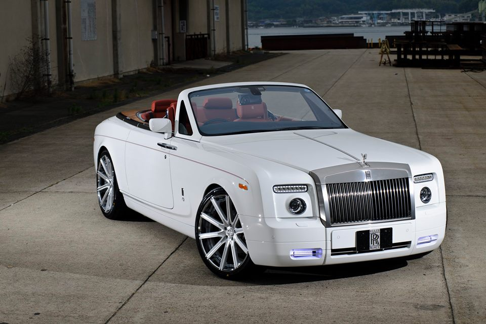 Rolls Royce Phantom Drophead On 22 Inch Lexani Wheels