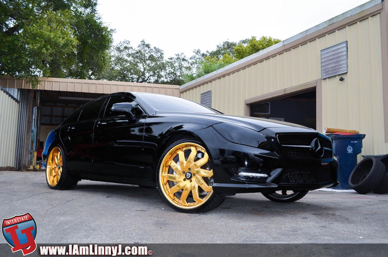 2014 Mercedes Cls On 22 Inch Gold Lexani Wheels Video