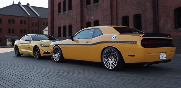 2015 Mustang Gt Vs Dodge Challenger Srt 392 On Lexani Wheels Video Rides Magazine