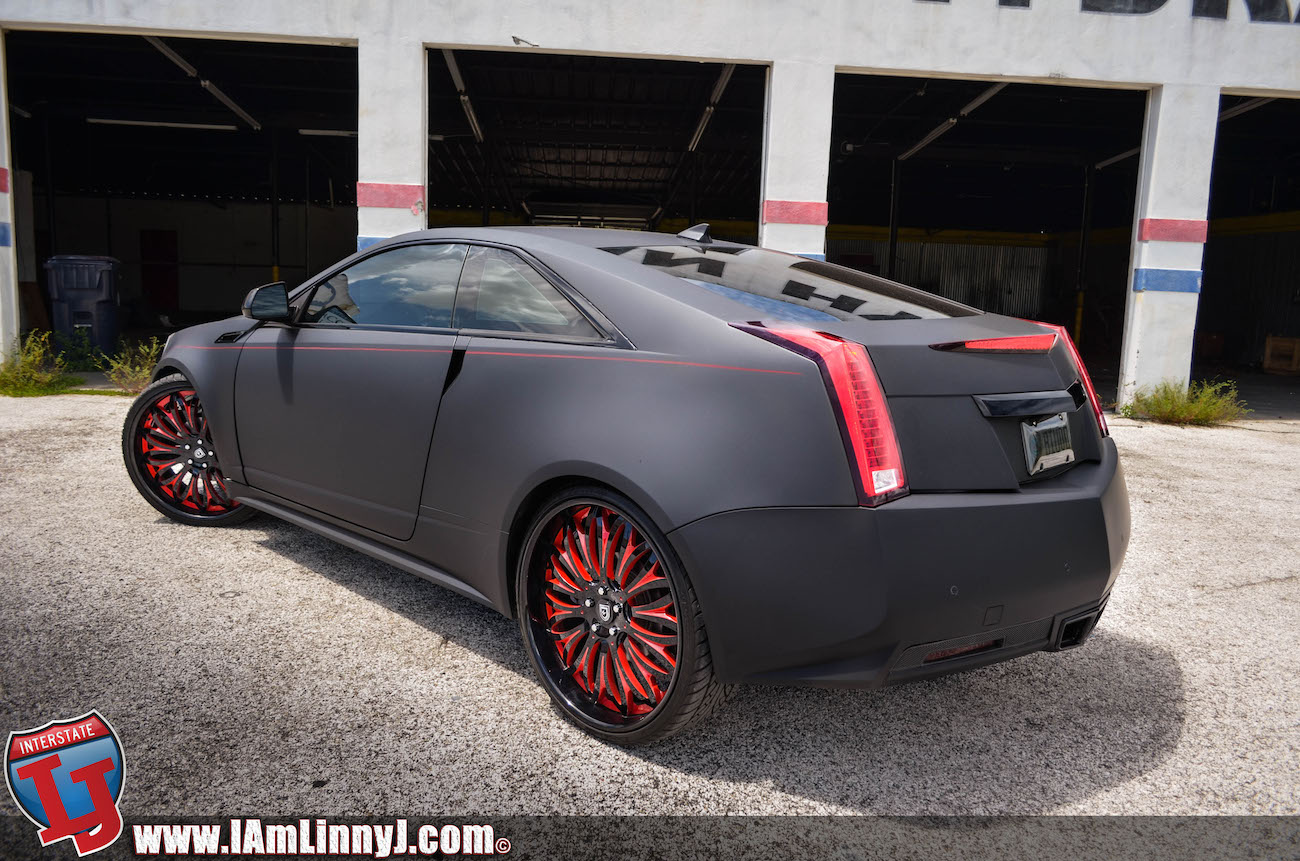 Matte Black Cadillac Cts On 24 Inch Lexani Forged Wheels