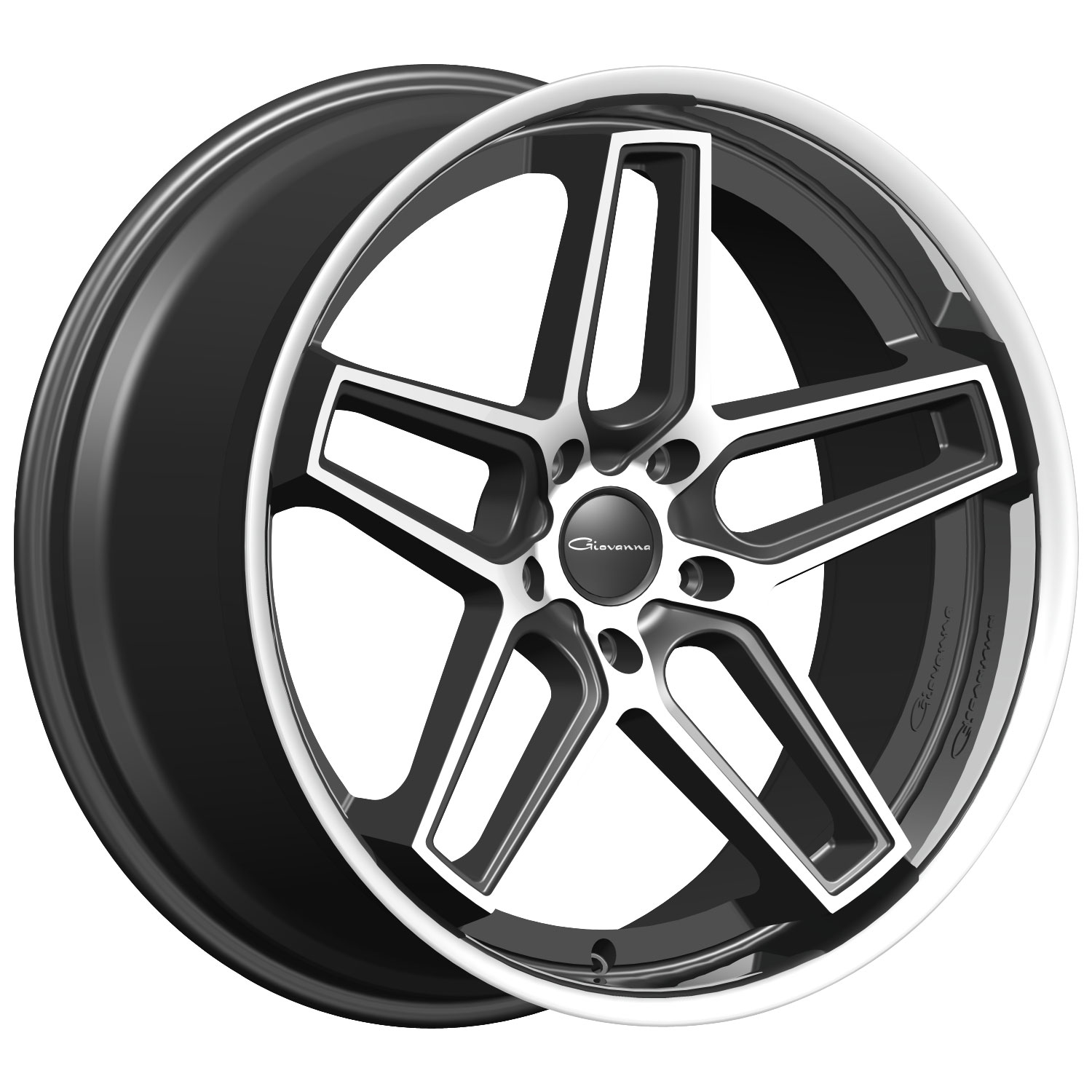 Giovanna-Austin-22x10.5-Black-with-Machined-Face