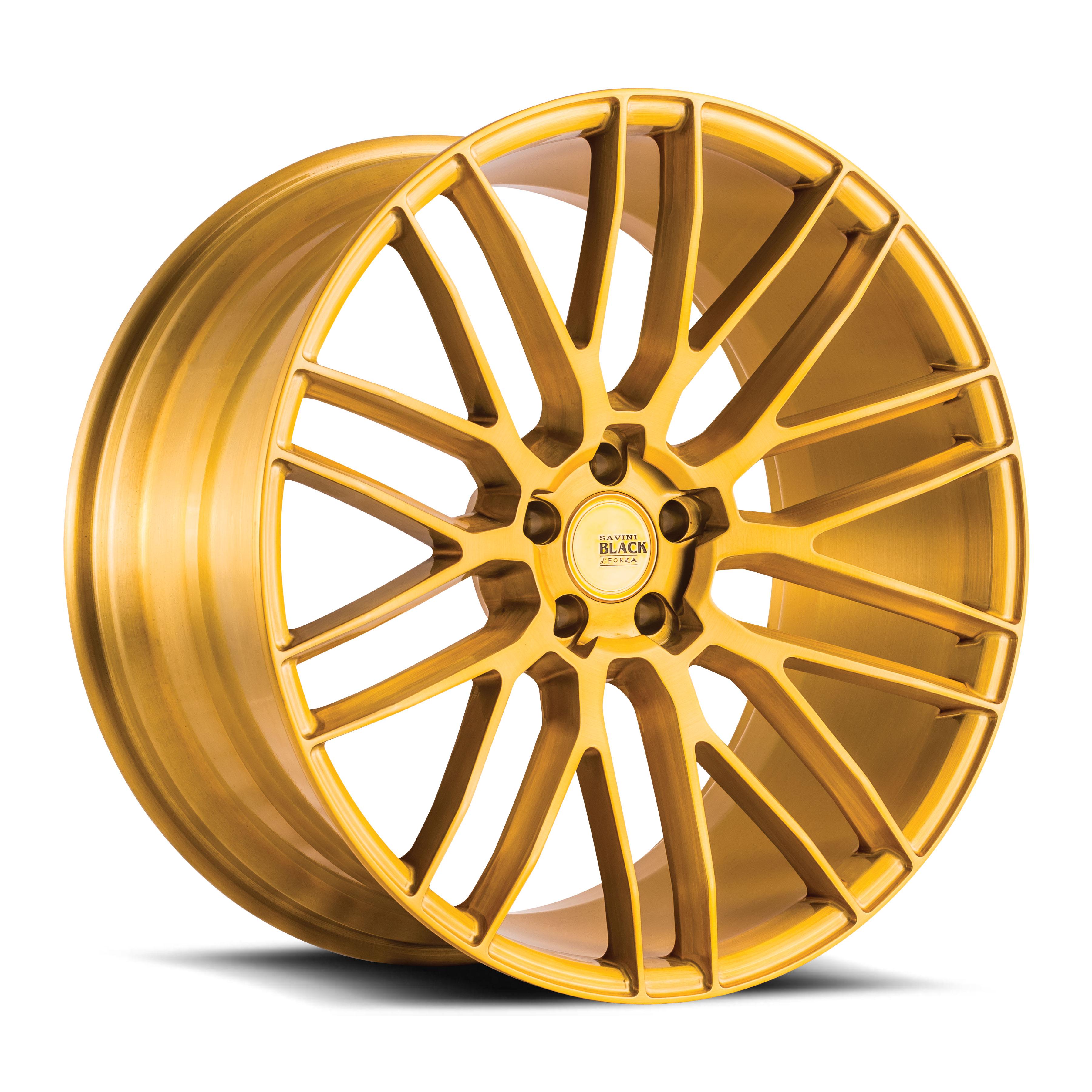 Savini-Black-di-forza-BM13-Brushed-Gold