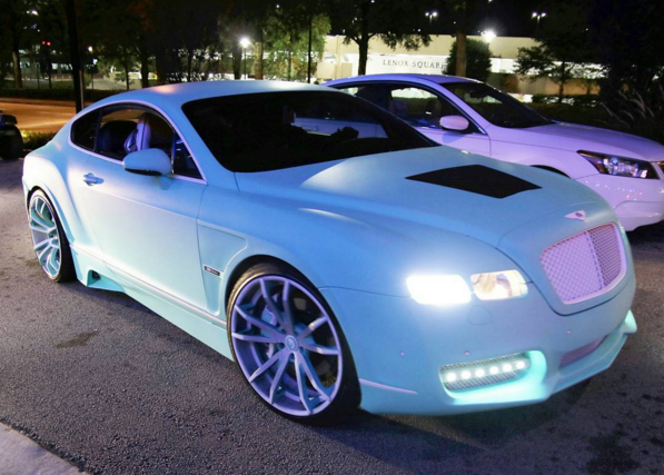 Yo Gotti's Tiffany Blue Bentley Continental GT On Forgiato ...