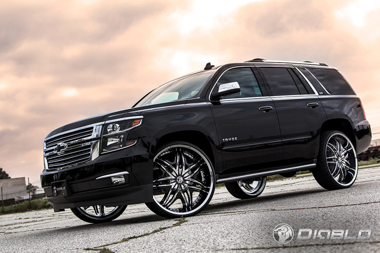 Chevy Tahoe On 28 Inch Diablo Wheels Rides Magazine