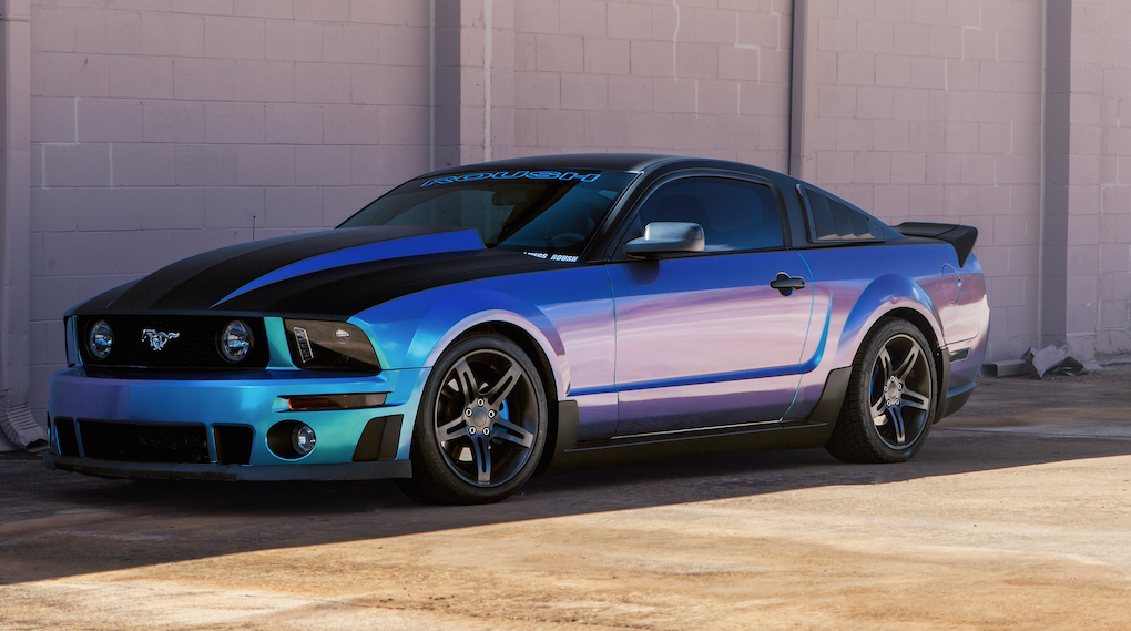 2005 Roush Mustang With Color Changing Wrap Rides Magazine