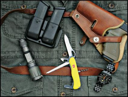 One Handed Victorinox German Army Knife