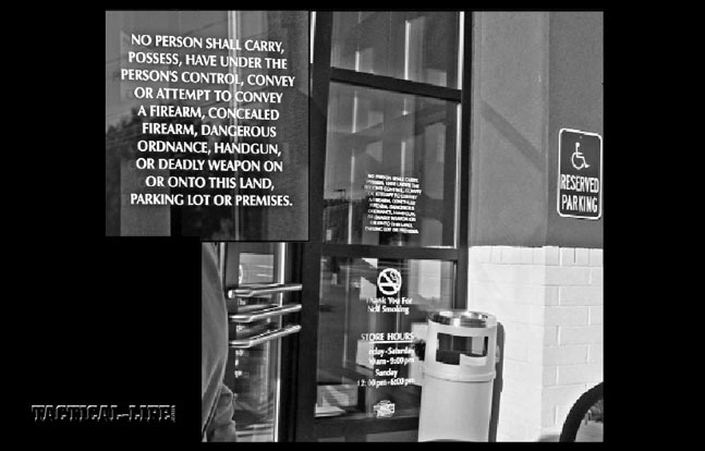 "It's ""asking for trouble"" to ""go where you're not wanted."" Taking time to read the fine print on the door of this jewelry store in the usually gun-friendly NH…"