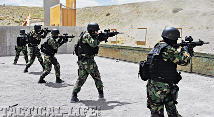 The S.W.A.T. environment is a 360-degree world, and the fast-handling Ruger SR-556 was up to the challenge of being deployed from all angles and distances.