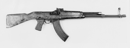 Second model of experimental Kubynov M1946 KB-2 assault rifle did not compete well against Kalashnikov's design.