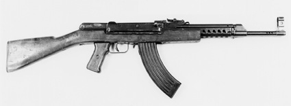 The experimental Sudayev AS-44 was the first weapon submitted to fire the new 7.62x41mm cartridge. Although heavy, the Sudayev designs were promising, but he fell ill and died in 1944 at age 33.