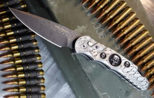 Pro-Tech Chad Nichols Rain Drop Damascus Knife