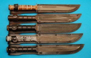 Military Surplus Utica, Pre-74 Camillus, Post 74 Camillus, MSI and Ontario Knives