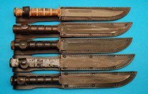Military Surplus Utica, Pre-74 Camillus, Post 74 Camillus, MSI and Ontario Knives