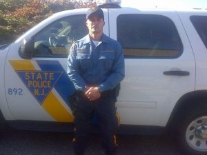 A New Jersey State Trooper monitoring a construction job and a former Marine working the job joined forces to safe the life of a man badly hurt in an accident on the New Jersey Turnpike.