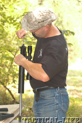Bill Alexander Cleaning Alexander Arms .17 HMR