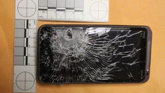 Clerk's Cellphone Stops Bullet