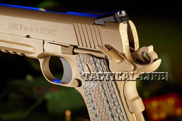 Combat Handguns Colt M45 CQBP rear sight