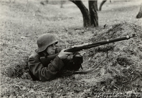 Hungarian Soldier WWII Gyalogsagi Hosszu Puska 31M Steyr M.95