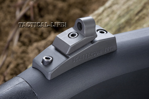 Law Enforcement Shotguns - Wilson Combat Border Patrol - Rear sight closeup