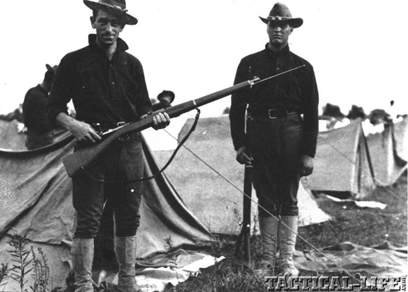 M1903 Springfield Soldiers Camped