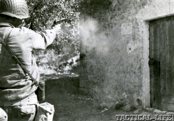 Soldier Firing Firearm