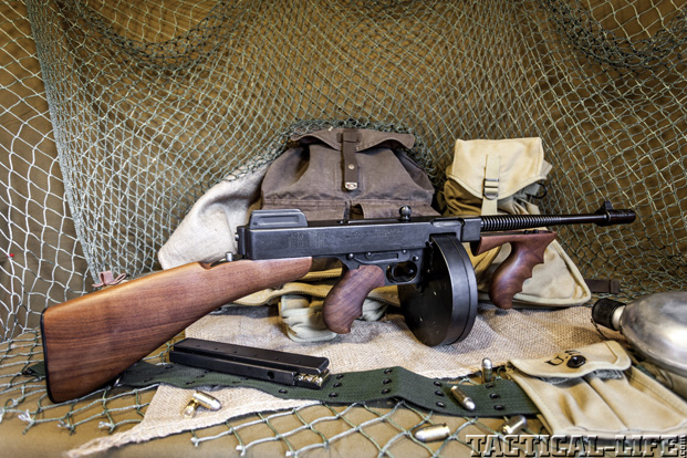 Thompson SMG Submachine Gun Right