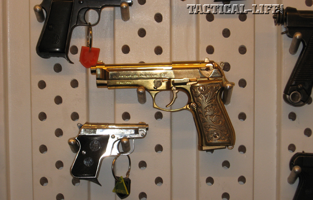 "Guns in Hollywood - Gold Beretta from ""The Dictator"""