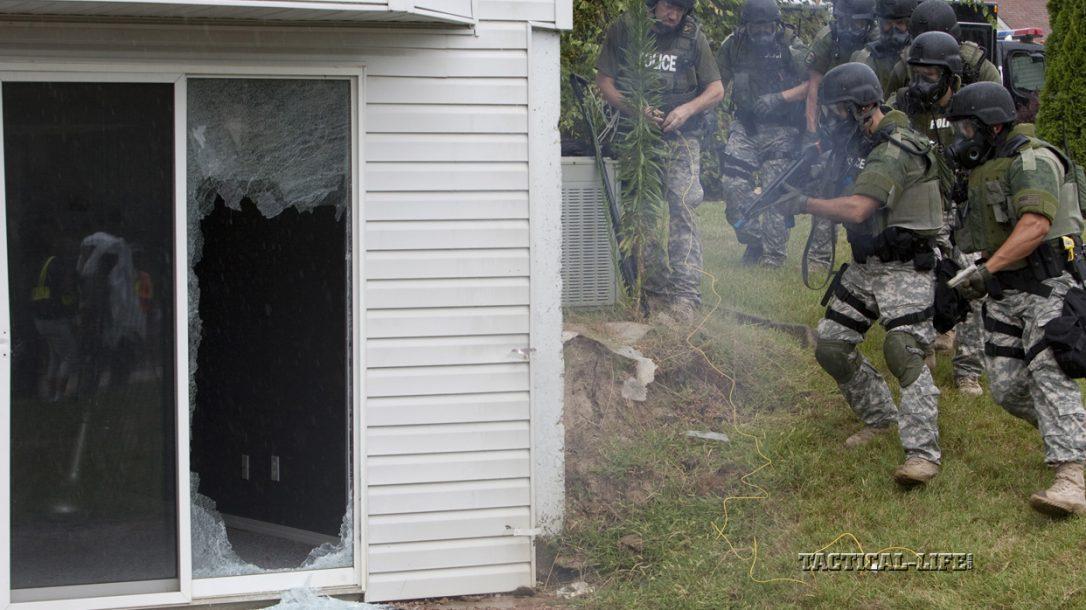 Law Enforcement Tactics - Explosive Breaching- Sliding Glass Door