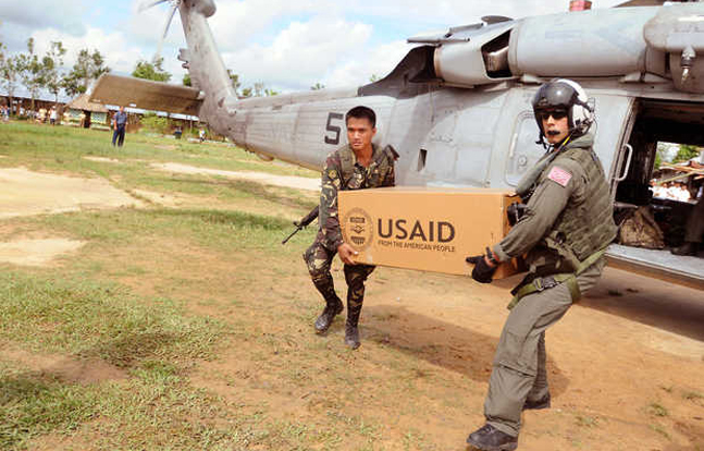 Massive U.S. Military Response to Philippine Typhoon