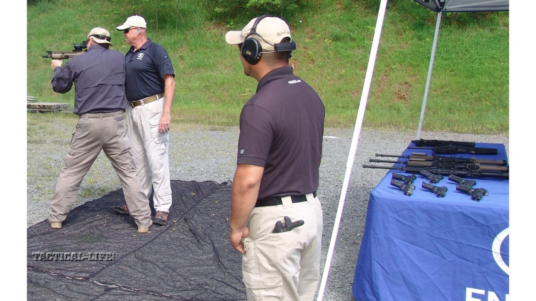 Tactical-Life Visits FNH USA - Shooting the SCAR was comfortable and accurate.