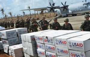 Typhoon relief efforts