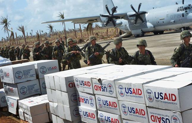 Typhoon relief efforts