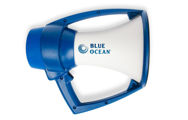 The Blue Ocean waterproof military megaphone.