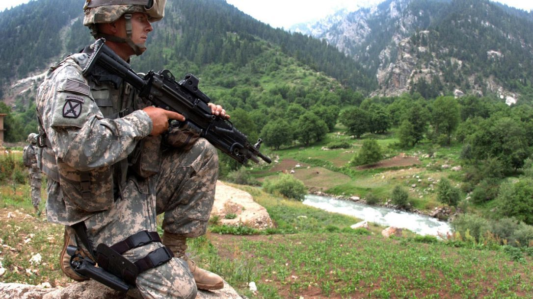 Happy New Year from Tactical-Life.com - (DoD Photo by Sgt. Brandon Aird) Spc. Jason Curtis, from the 10th Mountain Division, pulls security for fellow Soldiers patrolling Parun, Afghanistan.
