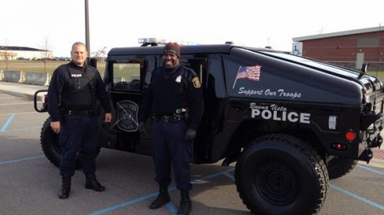 Local Michigan PD Gets a New Humvee