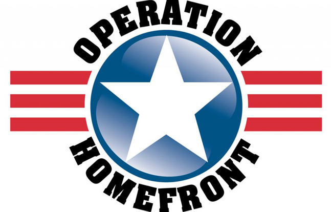 Military personnel, reservists and veterans all volunteered for Operation Homefront on Sunday, providing drinks, snacks and vouchers for holiday meals.