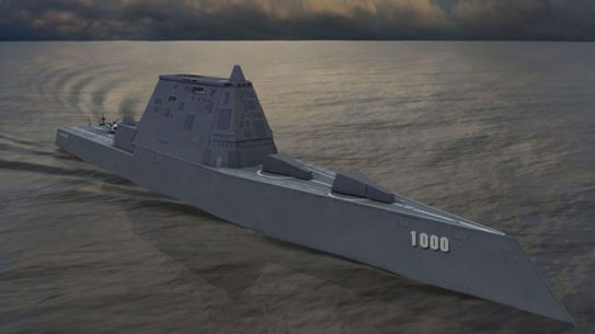 Raytheon has been awarded $75M to complete remaining hardware and electronics for DDG 1000 and 1001, the first two ships of the Zumwalt-class of destroyers.