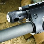 The four-position regulator above the barrel can be adjusted for optimum reliability and superior operating endurance, even when using a suppressor.
