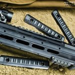 Ruger offers the SR-556 Carbine with either a quad-rail handguard or a sleek adaptable forend (shown) that comes with 3-inch rail sections.