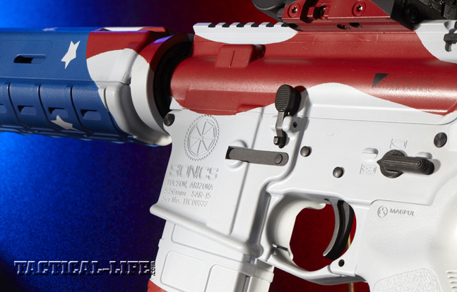 The Sionics American Dream 5.56mm is a power-packed AR rifle for those who bleed red, white and blue.