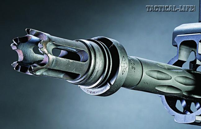 YHM's flash suppressor is used in conjunction with their Phantom LT/LTA QD sound suppressor.