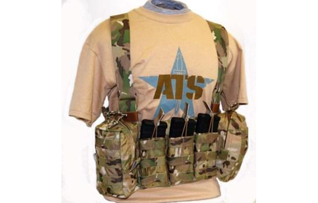 "The ATS Tactical Gear Low Profile Chest Harness is a combat chest harness with minimal bulk, weight, and ""footprint""."
