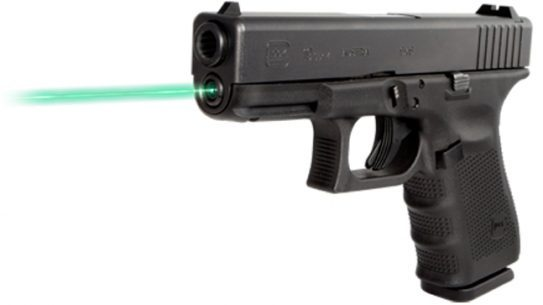 Lights, Lasers & Optics - New for 2014 | LaserMax Green Guide Rod Laser for Glock Pistols