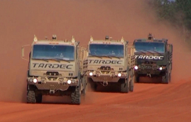 Lockheed and the US Army TARDEC successfully demonstrated the ability of fully autonomous convoys to operate in urban environments.