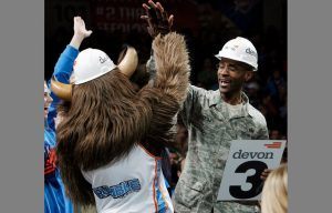 OKC Thunder Salutes Our Military