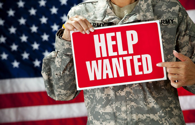 Sears Holdings has announced a goal of hiring 6,500 veterans and military spouses in 2014.
